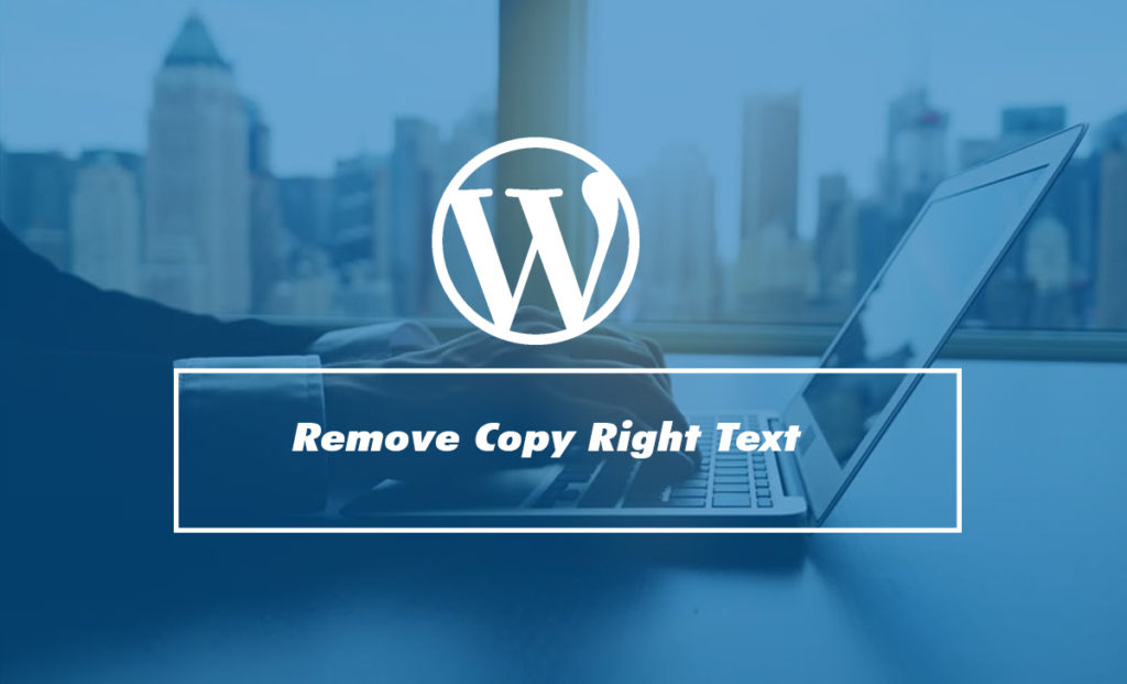 Remove the Powered by Text in WordPress Footer