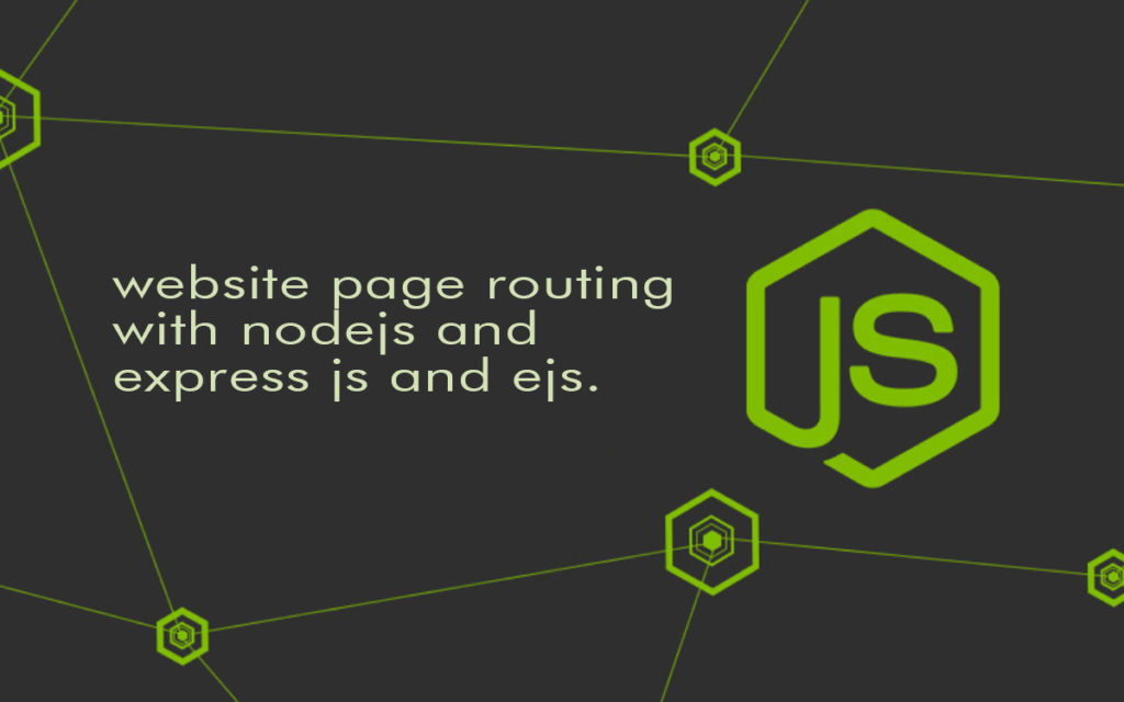 website page routing with nodejs and express js and ejs